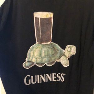 "NWT! Guinness ""Anticipation"" tee shirt with turtle"
